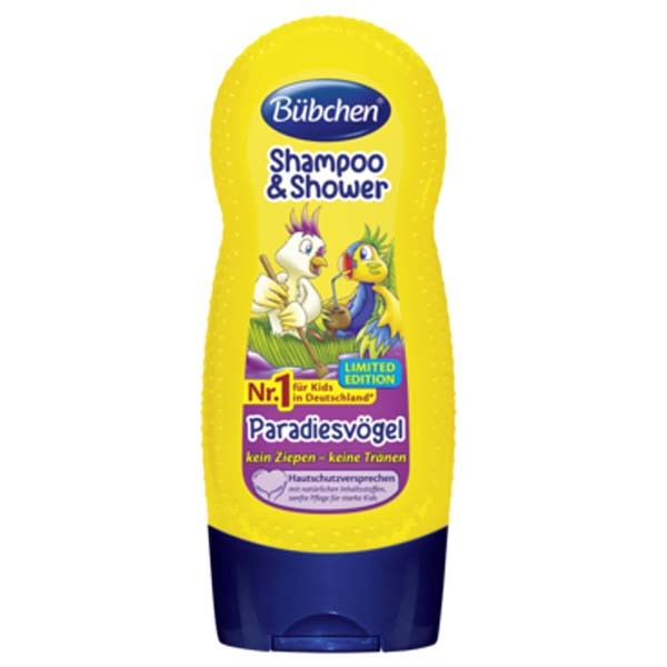 [Bübchen] Shampoo & Shower Birds of Paradise 뷔센 샴푸 & 샤워 극락조 230ml