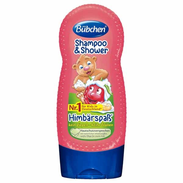 [Bübchen] Kids Shampoo & Shower Raspberries 뷔센 키즈 라즈베리 샴푸 & 샤워 230ml