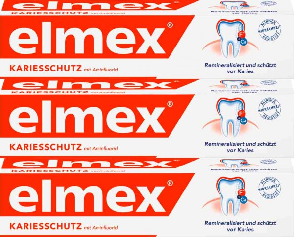 [Elmex] elmex® Caries Protection 엘멕스 충치 예방 치약 75ml x 3개 (1 set)